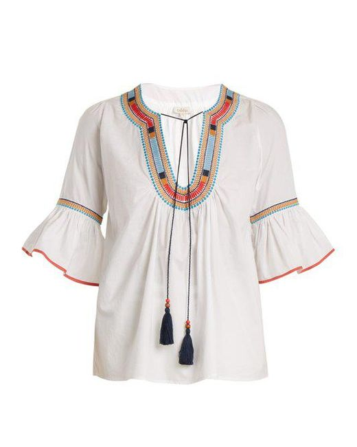 Talitha Woman Salma Embroidered Cotton-broadcloth Blouse White Size XL Talitha 2018 Unisex Online Clearance Cheapest New Styles Cheap Online pczCdbT