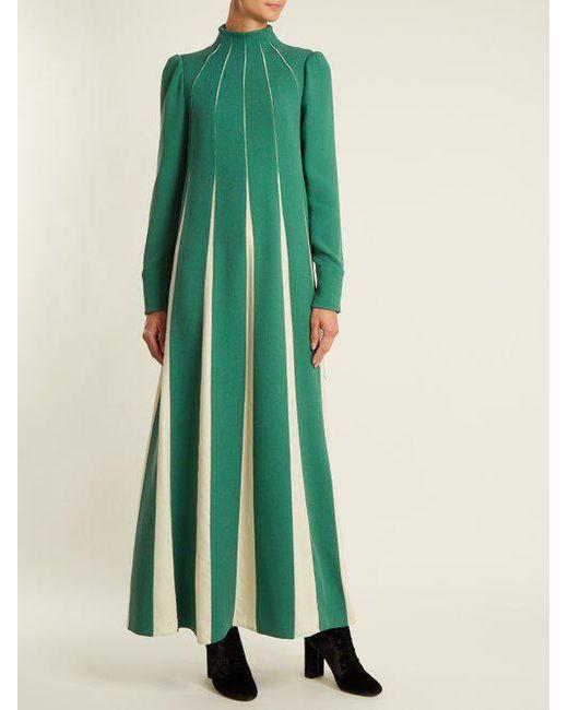 High-neck silk-sable dress Valentino Sale Largest Supplier Discount 2018 Buy Cheap Footlocker Finishline Pictures Hot Sale Cheap Online bghqnstU9