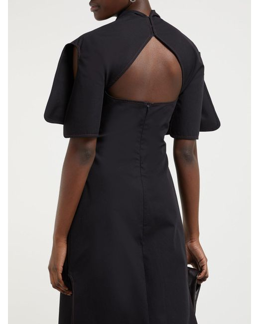Lyst Ellery Holly Of Hollies Asymmetric Cotton Dress In Black