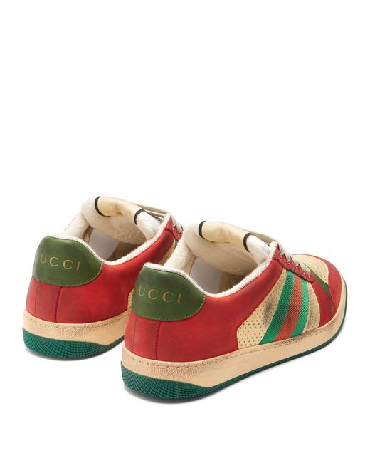 6b0fba3b189 ... Gucci - Multicolor Virtus Low Top Distressed Leather Trainers for Men -  Lyst ...