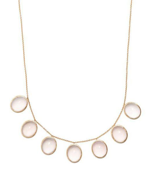 Susan Foster Rose-quartz & yellow-gold necklace N6QDGx
