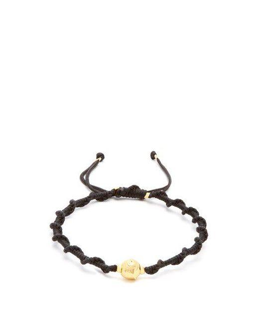 Black Dakini - Multicolor - Gold Vermeil And Cord Bracelet - Mens - Black Multi for Men - Lyst