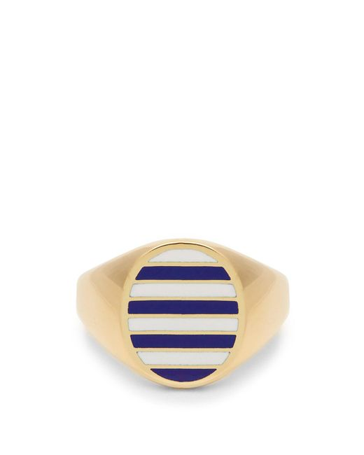Jessica Biales - Multicolor Enamel & Yellow-gold Ring - Lyst