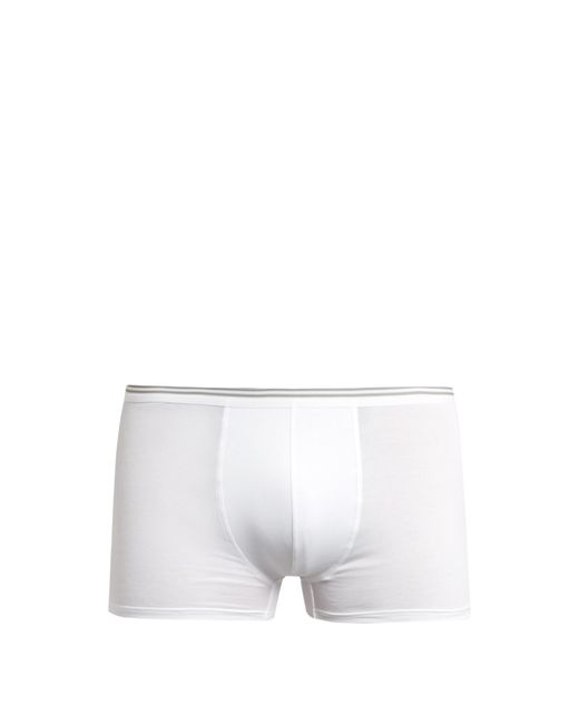 Zimmerli | White Pure Comfort Stretch-cotton Boxer Trunks for Men | Lyst