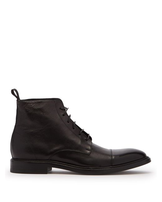 Paul Smith - Black Jarman Leather Boots for Men - Lyst