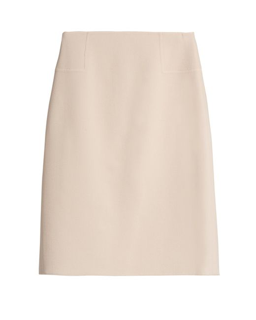 Oscar de la Renta - Blue Wool-blend Fitted Pencil Skirt - Lyst