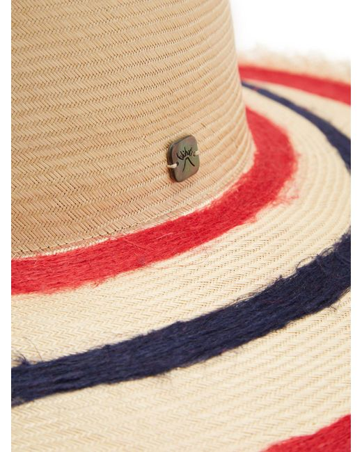 e26bdd5ed66 ... Filù Hats - Multicolor Sinatra Feather Trimmed Straw Hat - Lyst ...