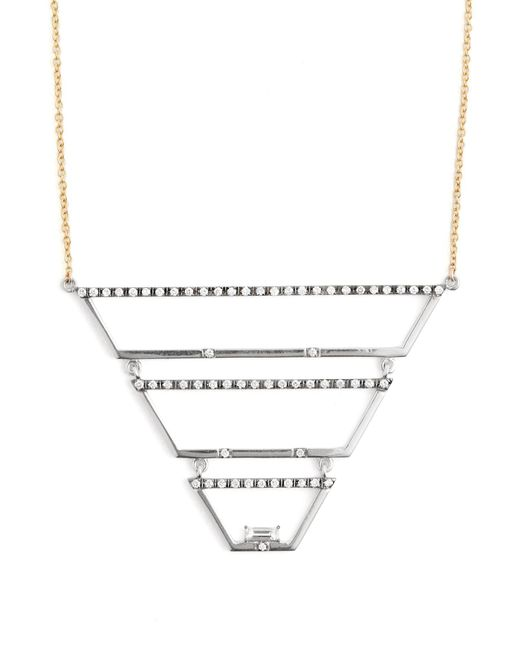 Susan Foster - Metallic Diamond, White Gold & Yellow Gold Necklace - Lyst
