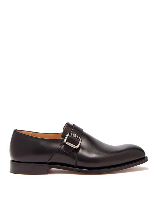 Church's - Black Chaussures en cuir à boucle Westbury for Men - Lyst