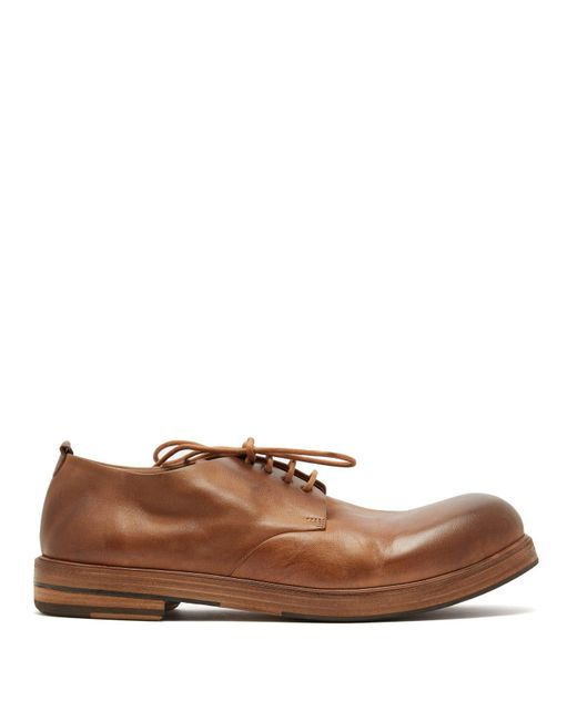 Marsèll - Brown Zucca Zeppa Leather Derby Shoes for Men - Lyst