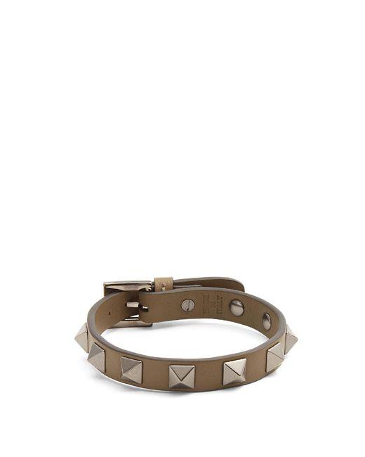 Valentino | Multicolor Rockstud-embellished Leather Bracelet for Men | Lyst