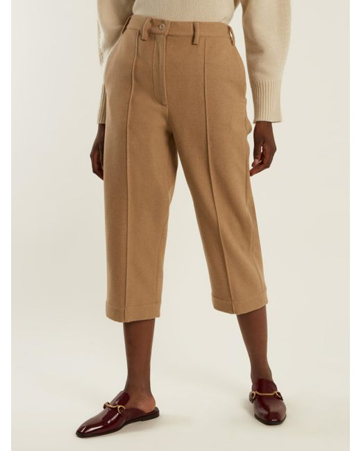 Low Cost For Sale For Sale 2018 Wool-blend cropped trousers Maison Martin Margiela Clearance Wiki Clearance Popular Discount Fashion Style 8OhX4skDjx