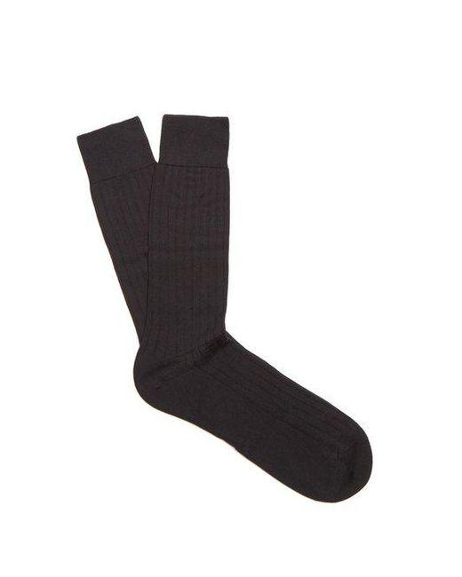 Pantherella - Black Pembrey Cotton-blend Socks for Men - Lyst