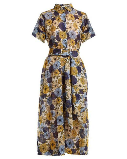 Ruffle-trimmed floral-embroidered cotton dress Lisa Marie Fernandez yibd54X1