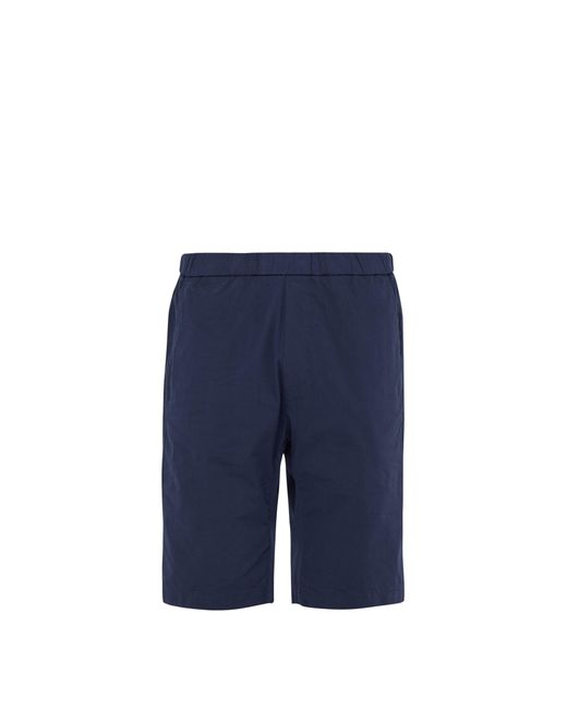 Barena - Blue Short en coton à cordon coulissant dissimulé for Men - Lyst