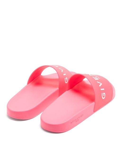 d6735d495772 ... Givenchy - Pink Rubber Pool Slides for Men - Lyst ...