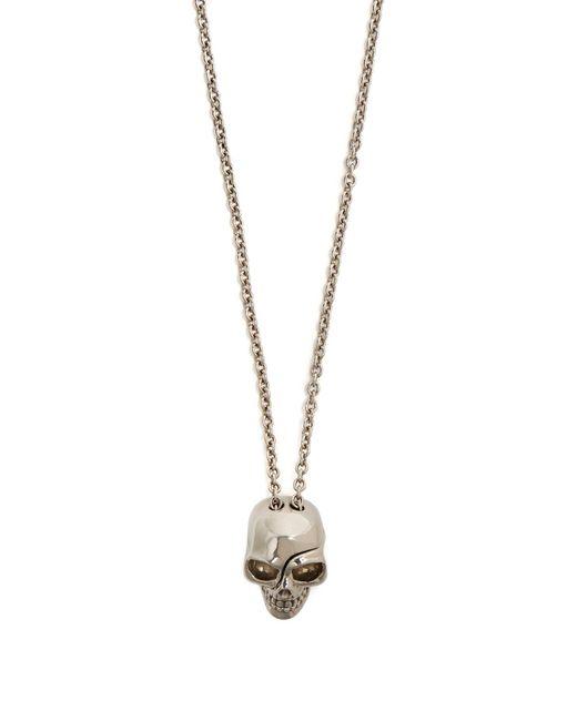 Alexander McQueen - Metallic Skull-embossed Medallion Necklace for Men - Lyst