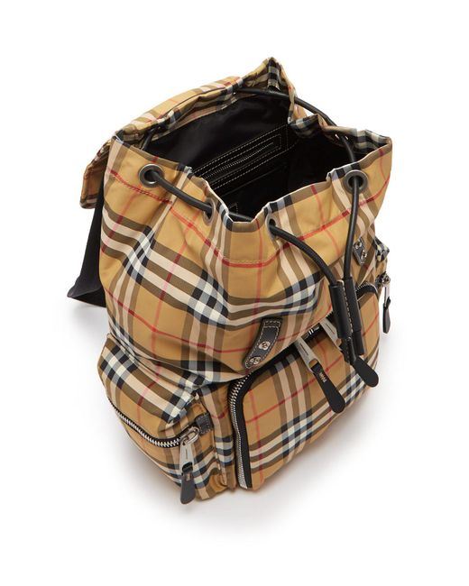 0672fc2783d ... Burberry - Multicolor Vintage Check Backpack for Men - Lyst ...