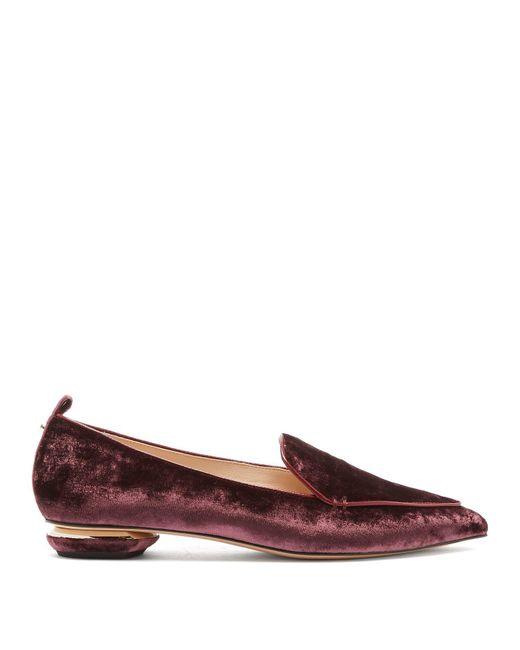 Nicholas Kirkwood - Multicolor Beya Crushed-velvet Loafers - Lyst