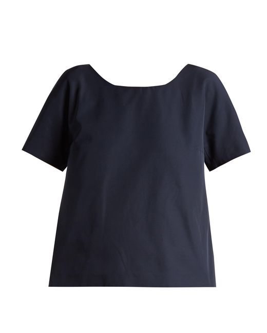 Weekend by Maxmara - Blue V Back Short Sleeved Top - Lyst