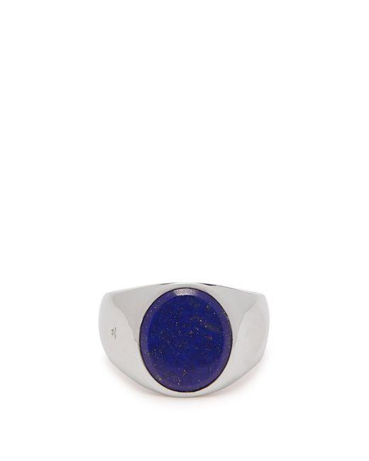 Tom Wood Metallic Lapis Sterling Silver Signet Ring for men