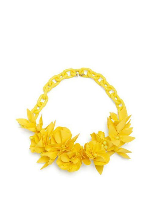 Lyst isabel marant honolulu flower necklace in yellow isabel marant yellow honolulu flower necklace lyst mightylinksfo Choice Image