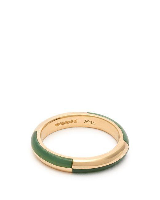 Marc Alary - Metallic Deco 18kt Gold & Chrysoprase Ring - Lyst