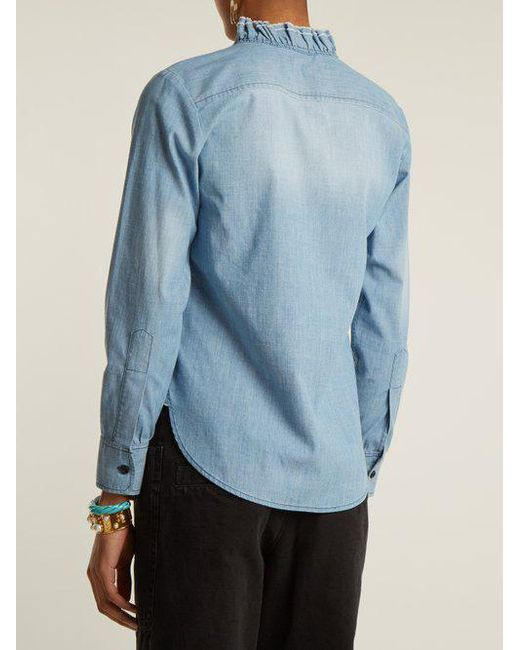 Lawendy ruffle-trimmed stretch-cotton shirt Isabel Marant Free Shipping Low Price Fee Shipping Online Cheap Quality Discount Shop For Where Can I Order jt8nV