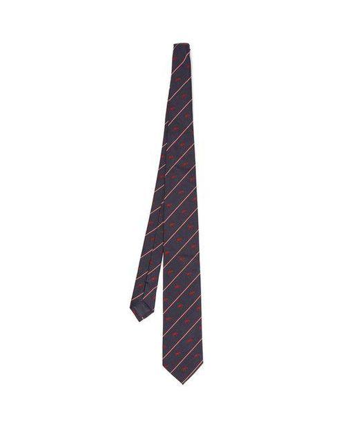 Dunhill - Blue Tweenie Stripe Tie for Men - Lyst