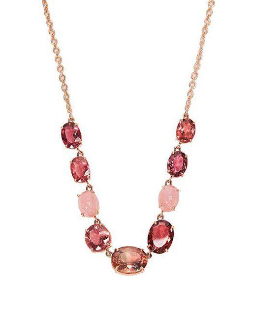 Irene Neuwirth - Pink Opal, Tourmaline & Rose Gold Necklace - Lyst