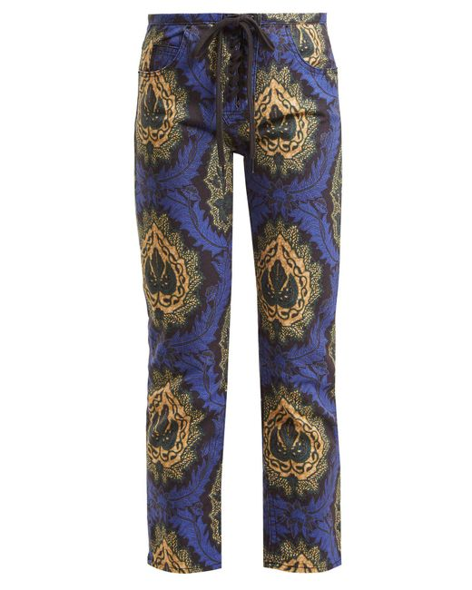 Isabel Marant Blue Rupsy Floral Print Cropped Jeans