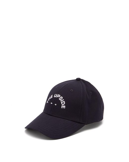 The Upside - Blue Logo Embroidered Cotton Cap for Men - Lyst