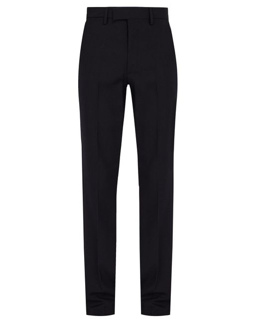 Raf Simons - Blue Slim Fit Wool Trousers for Men - Lyst