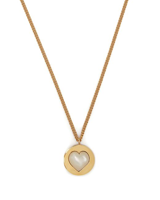 Theodora Warre - Metallic Heart Gold Plated And Pearl Necklace - Lyst