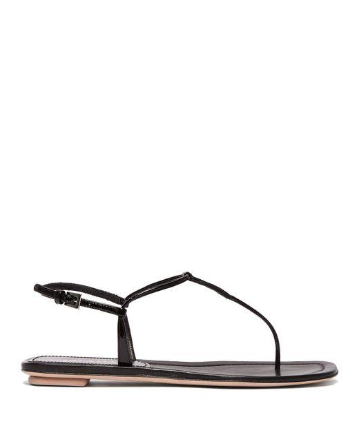 fc9ef71442b Lyst - Prada Black Patent Leather Thong Sandals in Black - Save 5%