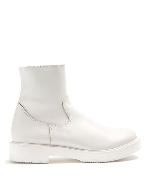 JUNYA WATANABE Smooth-leather ankle boots Free Shipping Wiki Buy Cheap Shop For V8Vye632f