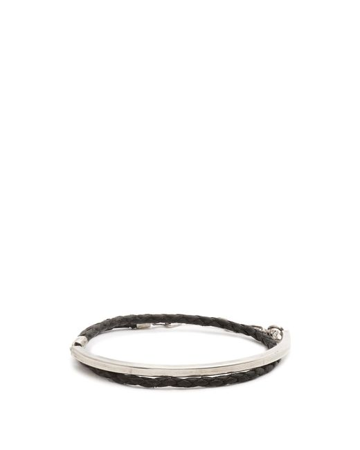 Title Of Work | Multicolor Leather And Sterling-silver Wraparound Bracelet for Men | Lyst