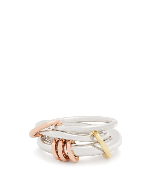 Spinelli Kilcollin | Metallic Orion Silver, Yellow & Rose-gold Ring | Lyst
