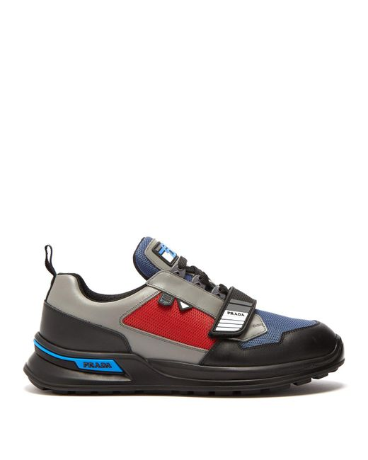 Prada - Multicolor Low-top Leather Trainers for Men - Lyst