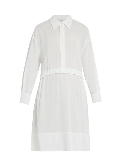 Stella McCartney | White Long-sleeved Elasticated-waist Cotton Dress | Lyst