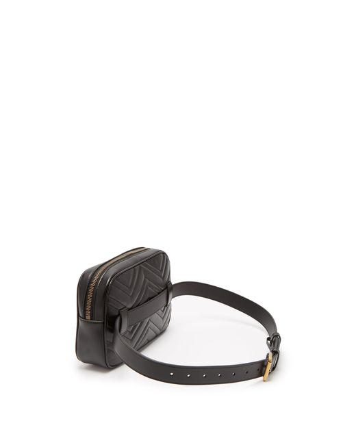 5dce4629d62 ... Gucci - Black Gg Marmont Quilted Leather Belt Bag for Men - Lyst ...
