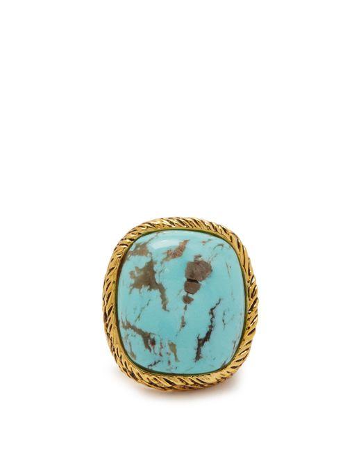 Aurelie Bidermann - Blue Miki Turquoise Gold Plated Ring - Lyst