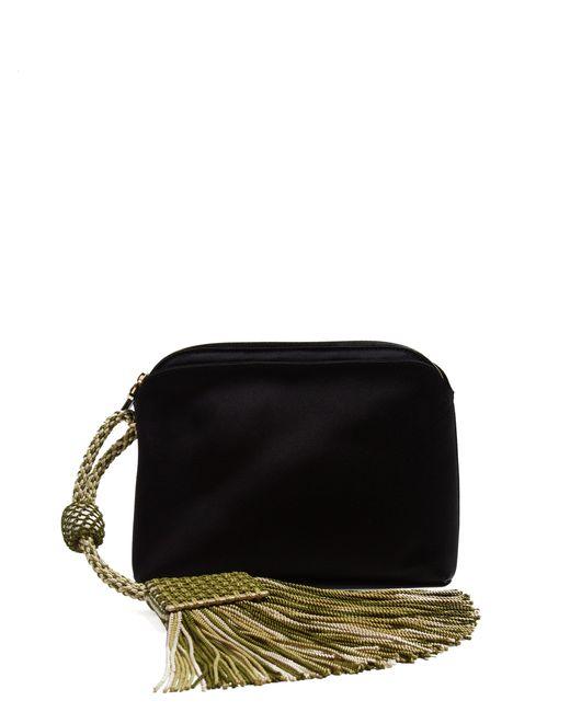 The Row - Black Tasselled Satin Clutch Bag - Lyst
