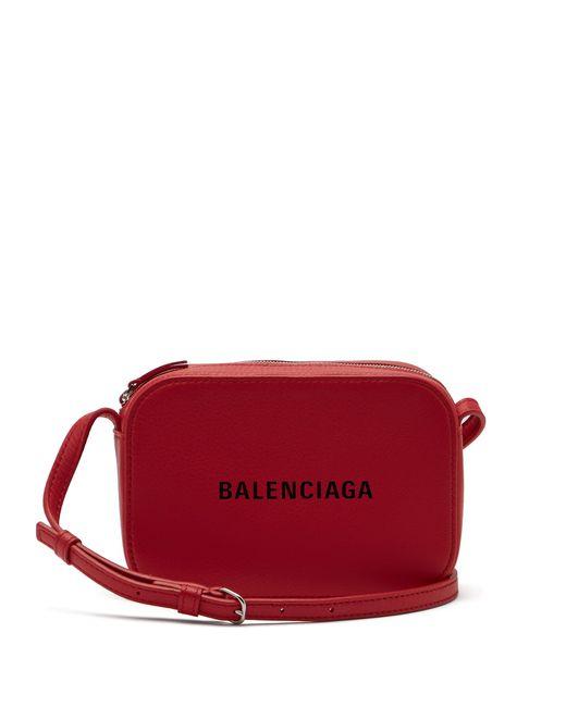 8b842131bca1 Balenciaga - Red Everyday Camera Xs Cross Body Bag - Lyst ...