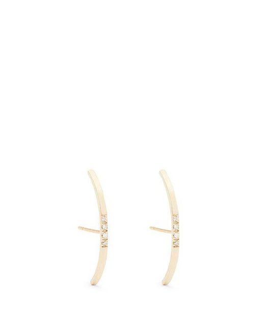Loren Stewart - Metallic Diamond & Yellow-gold Earrings - Lyst