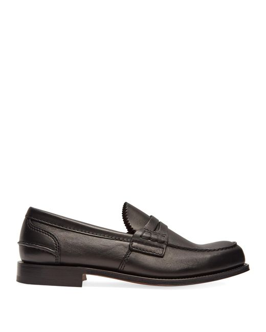 Church's - Black Pembrey Leather Loafers for Men - Lyst