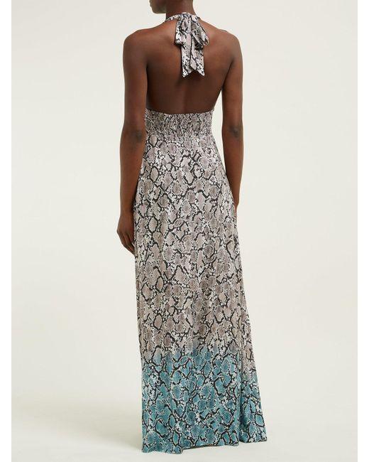 c536e662fa ... Heidi Klein - Multicolor Mozambique Snakeskin Print Maxi Dress - Lyst  ...