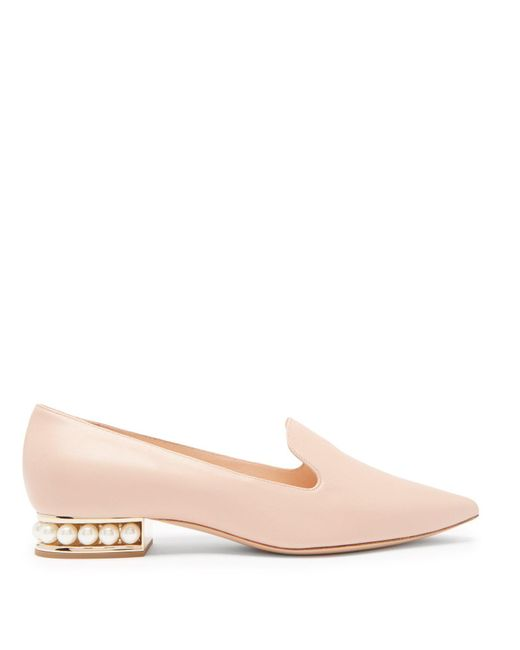 Nicholas Kirkwood - Multicolor Casati Pearl Heeled Leather Loafers - Lyst