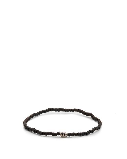 Luis Morais - Black Mini Barrel Beaded Bracelet - Lyst