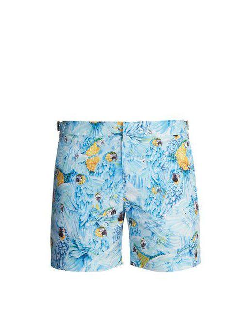 Cheap Sale Official Site Bulldog Parrot print swim shorts - Blue Orlebar Brown Buy Cheap Amazon E0RprUatc8